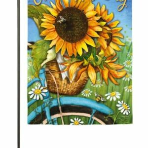 Happy Day Sunflower Garden Flag