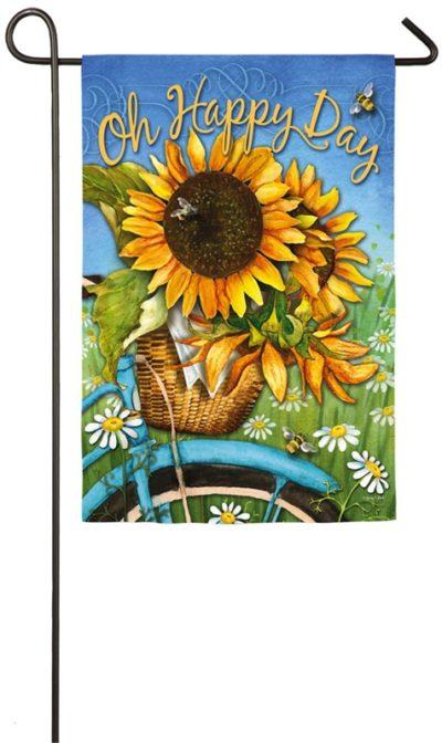 Happy Day Sunflower Garden Flag