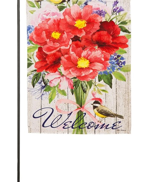 Peonies Bouquet Garden Flag