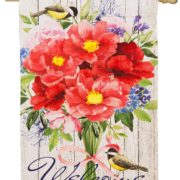 Peonies Bouquet House Flag
