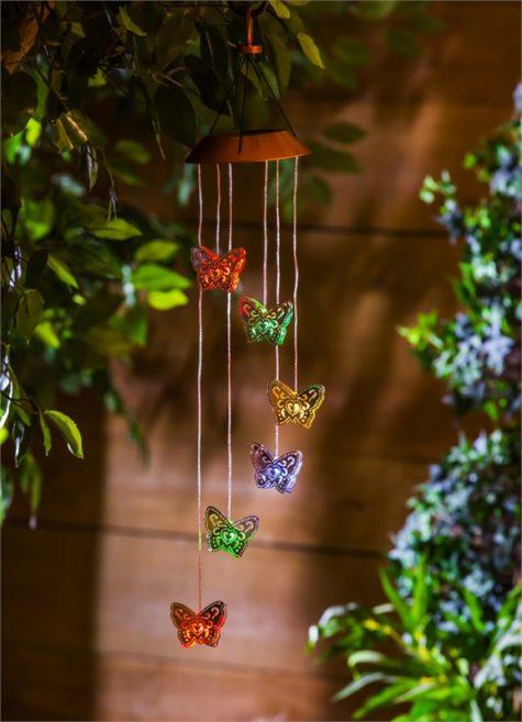 Night Garden Solar Mobile Butterfly