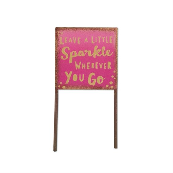 Gypsy Garden Pink Sparkle Sign