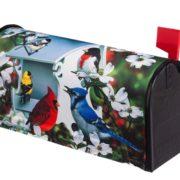 Backyard Birds Mailbox Cover