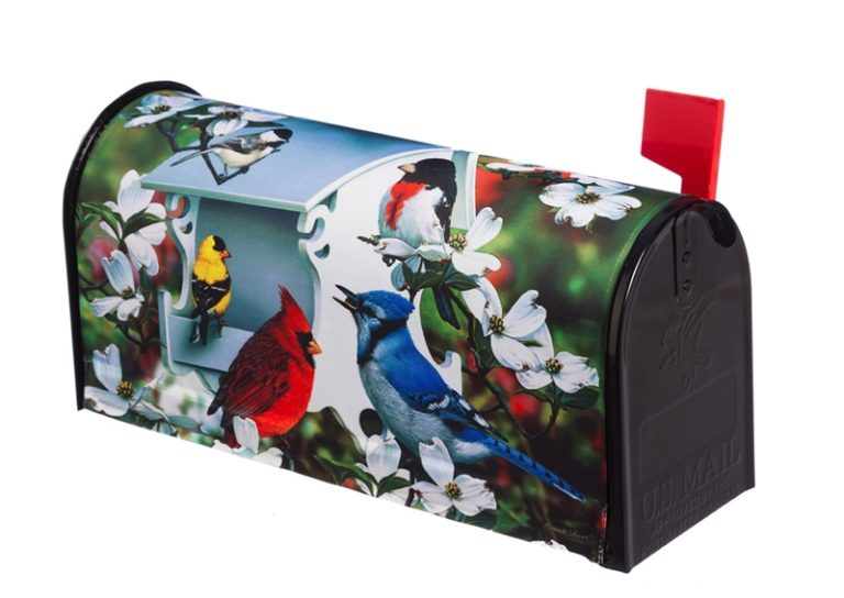 Backyard Birds Mailbox Cover