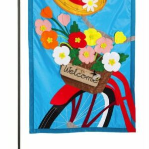 WFG Bicyle Basket Garden Flag