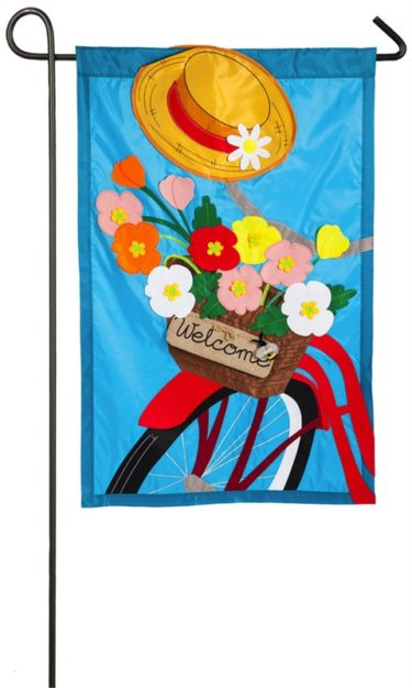 WFG Bicycle Basket Garden Flag