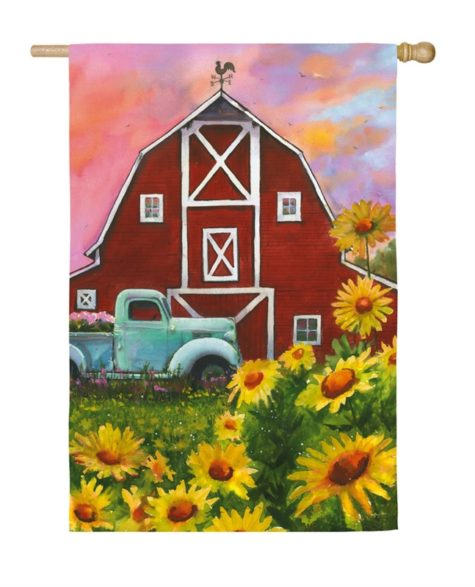 Big Red Barn House Flag