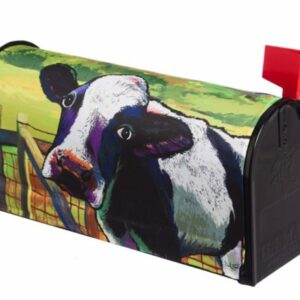 Colorful Cow Mailbox Cover