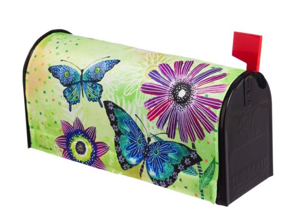 Floral Flight Mailbox Cover