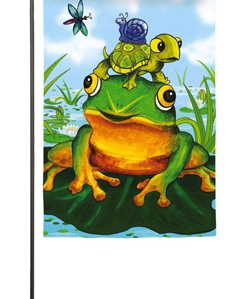 Frog Pile Garden Flag