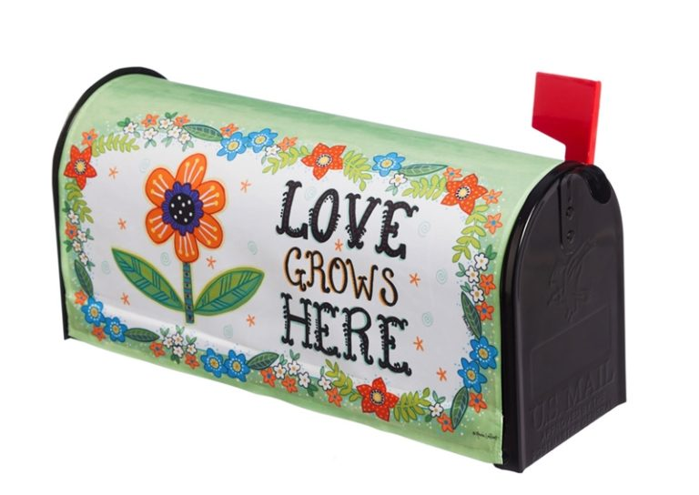 Love Grows Here Mailbox Cover
