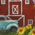 Red Barn Embossed Rug