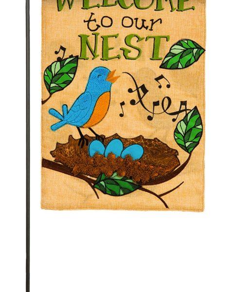 Songbird Nest Garden Flag
