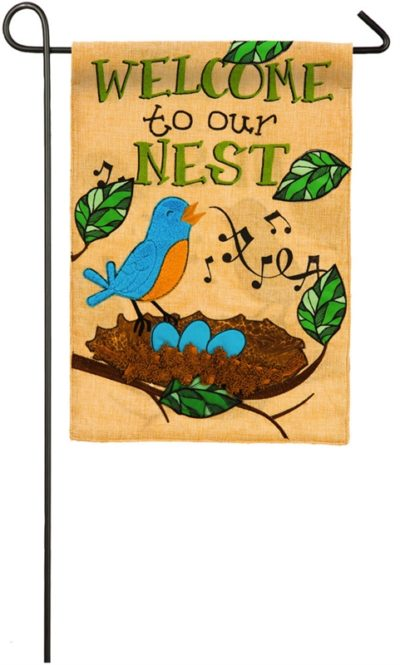 Songbird Nest Garden Flag