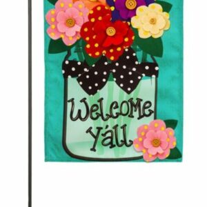 Welcome Y'all Garden Flag