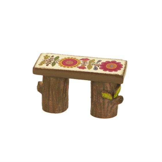 Gypsy Garden Mini Wood Bench