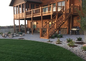 Log House Landscaping
