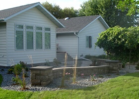 family home landscaping