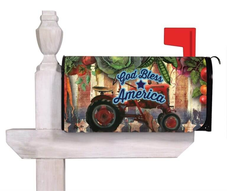 God Bless America mailbox