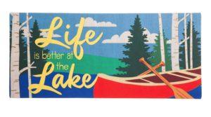 Life is Better at the Lake Sassafras Insert Mat