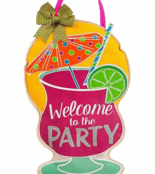 Party Welcome Door Decor