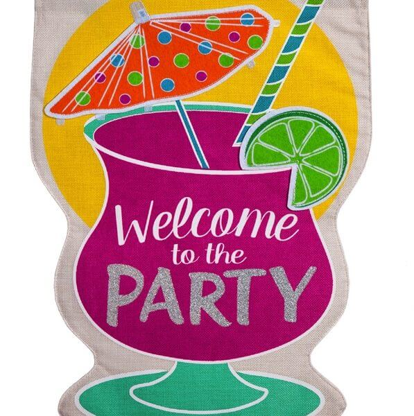 Party Welcome Flag