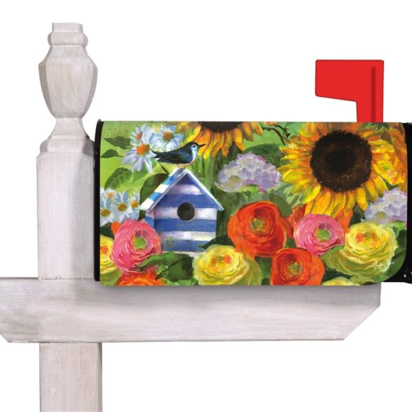 Sunflower Birdhouse Mailbox Cover