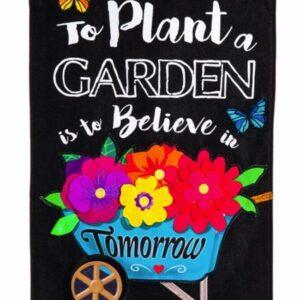 Plant Garden Burlap Garden Flag