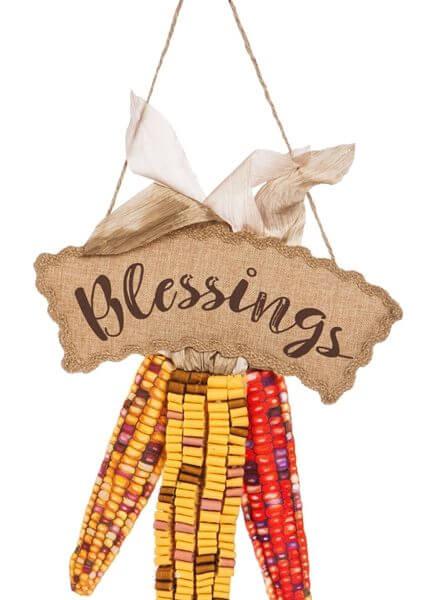 Harvest Blessings Door Decor