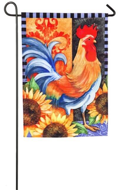Rooster Walk Garden Flag