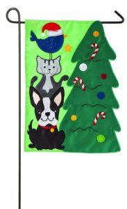 Santas Little Helper Garden Flag