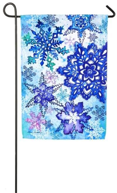 Sparkling Snowflake Garden Flag
