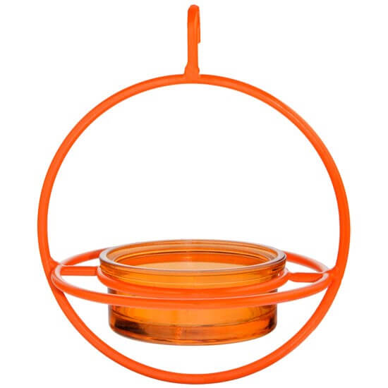 Hanging Sphere Bird Feeder with Perch