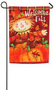 Scarecrow Welcome Fall Garden Flag