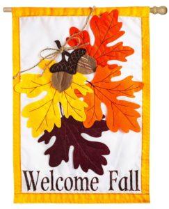 Autumn Leaves House Flag