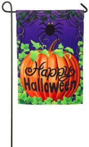 Halloween Spider Garden Flag