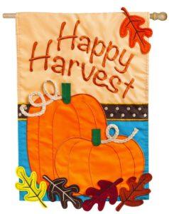 Happy Harvest House Flag