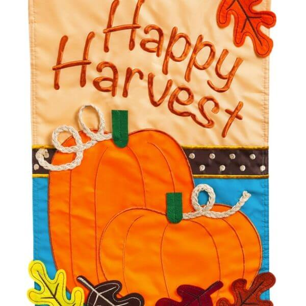 Happy Harvest House Flag