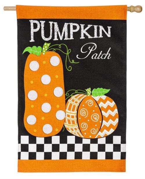 Pumpkin Patch House Flag