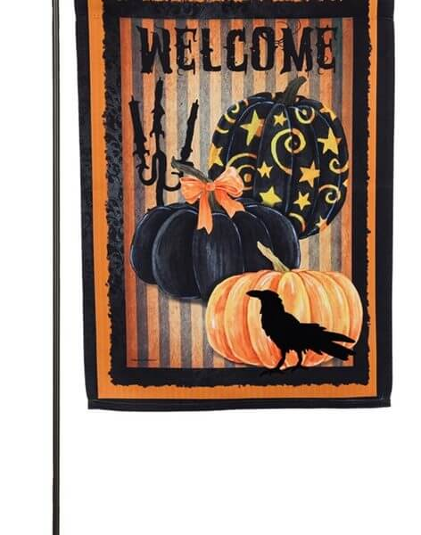 Welcome Halloween Pumpkin Garden Flag