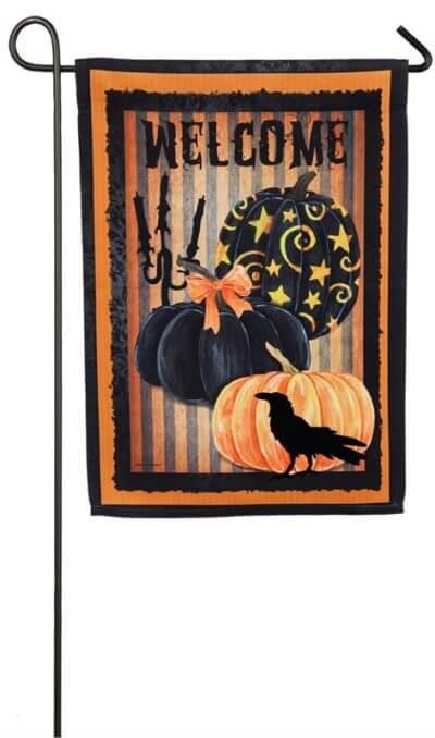 Welcome Halloween Pumpkin Garden Flag