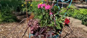 repurposed chair planter