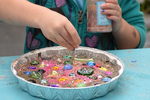 Kids Make & Take: Cement Stepping Stone